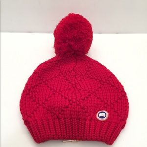 3dc18e73569 Canada Goose Accessories - Canada Goose Oversized Wool Pompom Beanie Hat